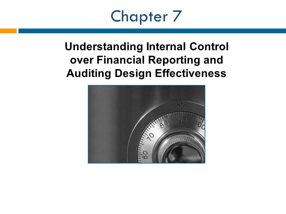 Chapter 7 Understanding Internal Control over Financial Reporting and Auditing Design Effectiveness