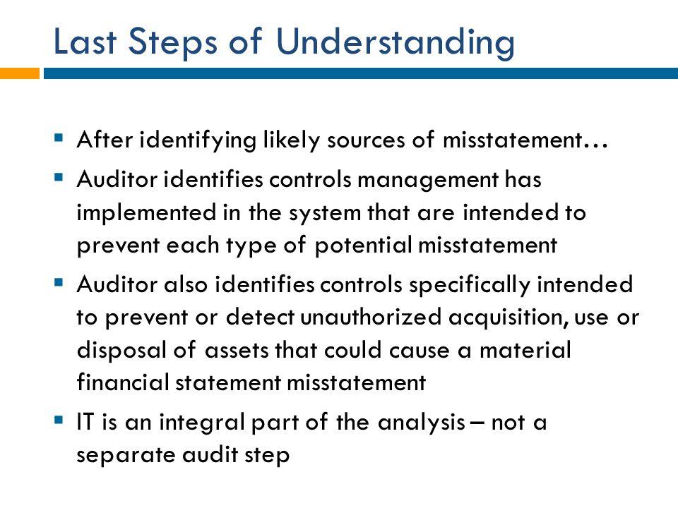 Last Steps of Understanding