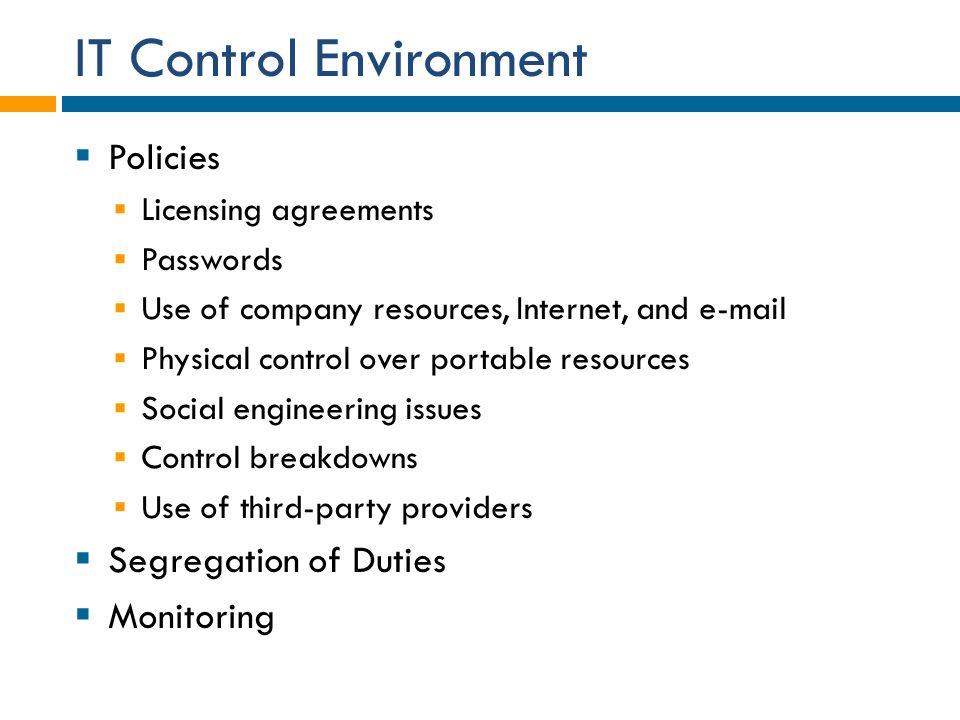 IT Control Environment