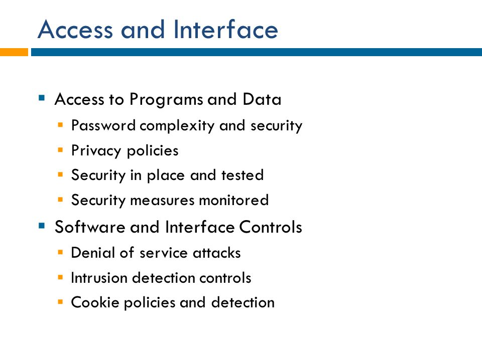 Access and Interface Access to Programs and Data