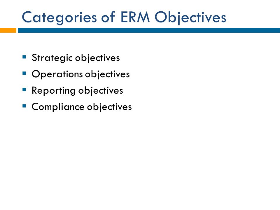 Categories of ERM Objectives