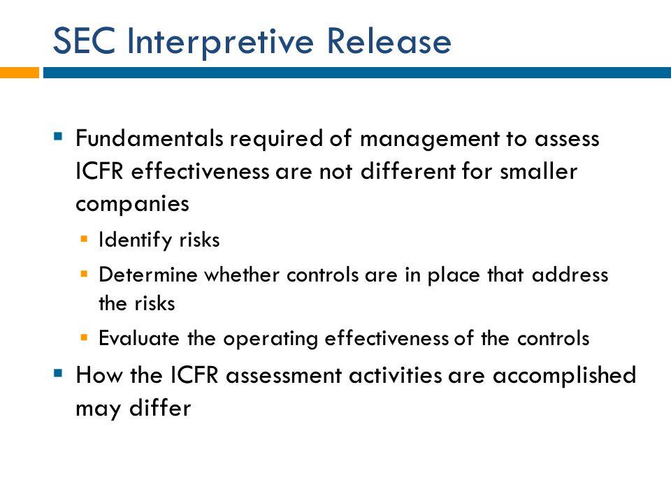 SEC Interpretive Release