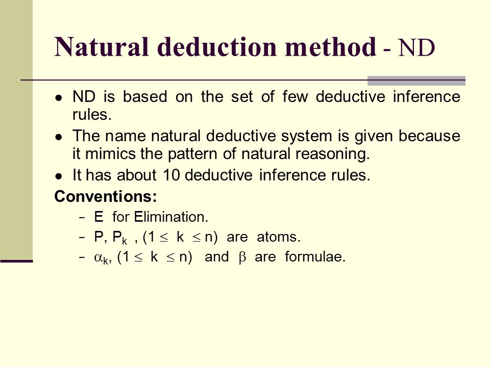 Natural deduction method - ND