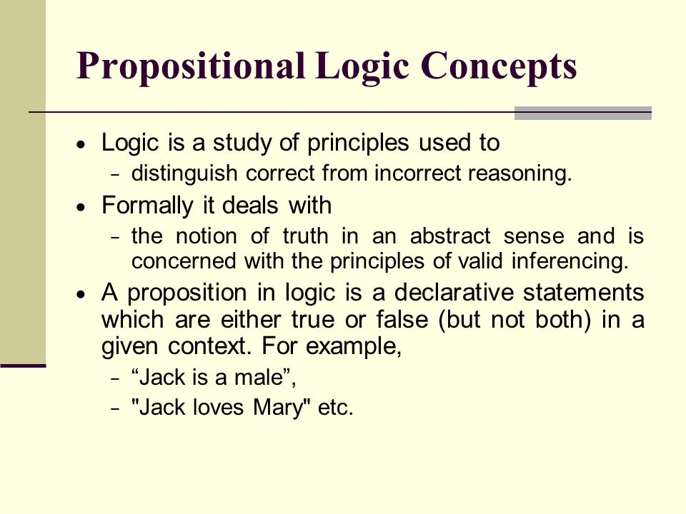 Propositional Logic Concepts