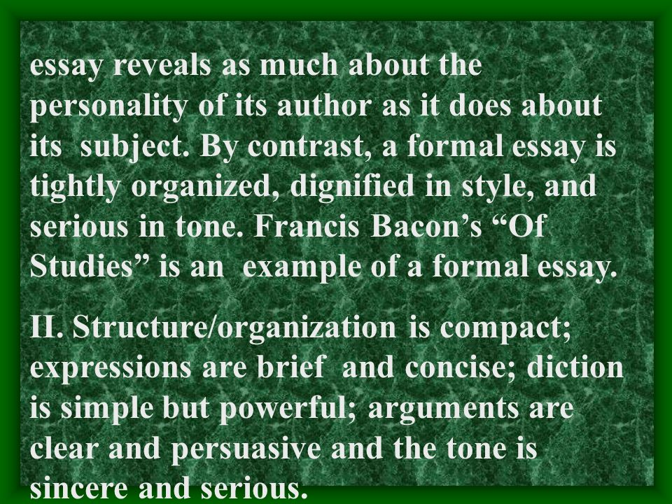 francis bacon essays summary of discourse