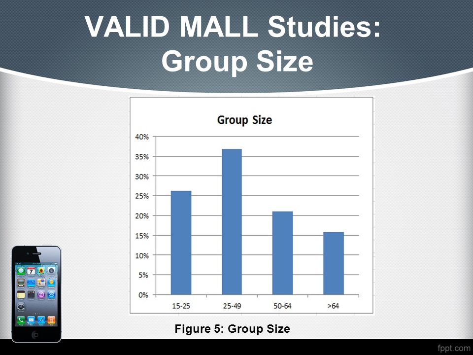 VALID MALL Studies: Group Size