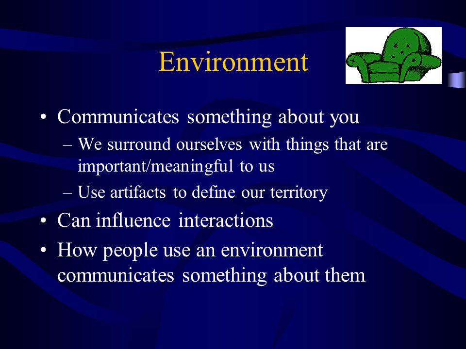 Environment Communicates something about you