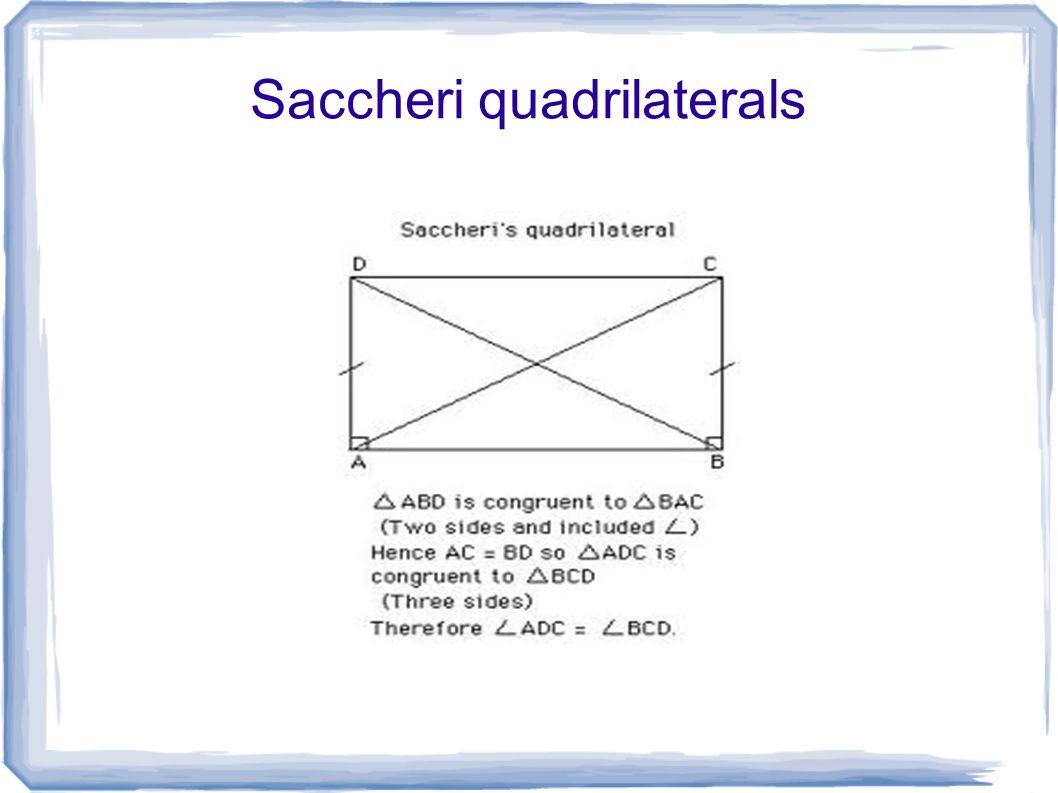 Saccheri quadrilaterals