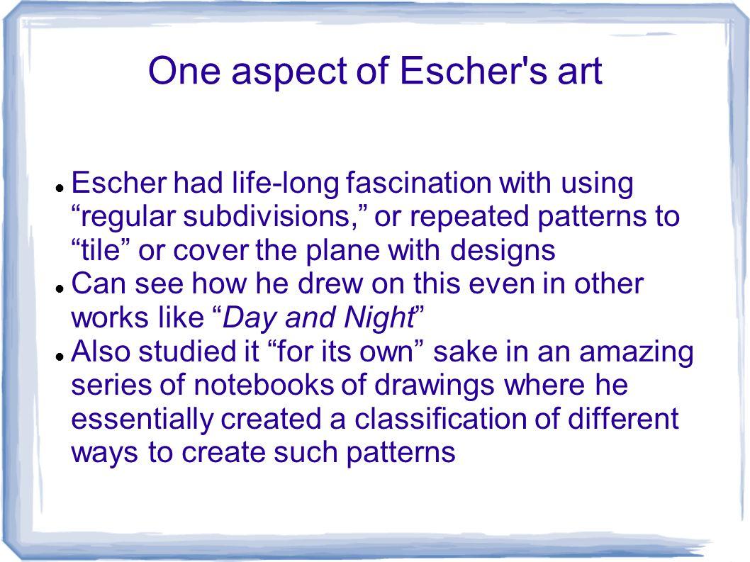 One aspect of Escher s art