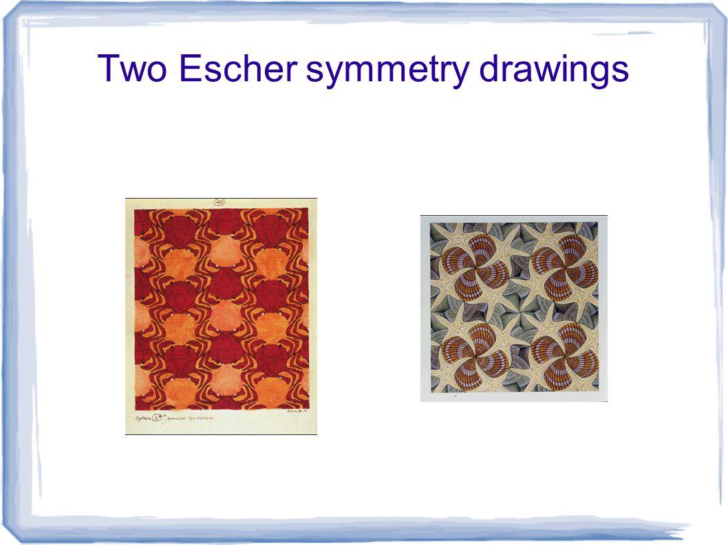 Two Escher symmetry drawings