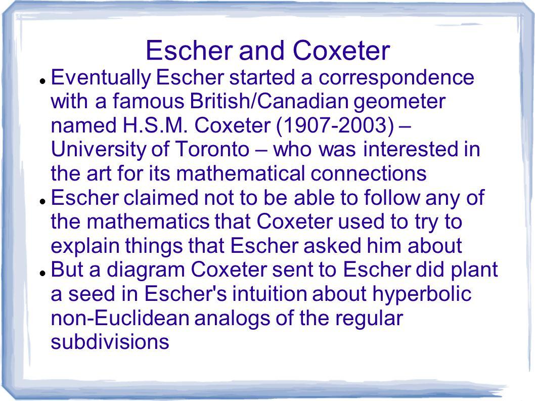 Escher and Coxeter
