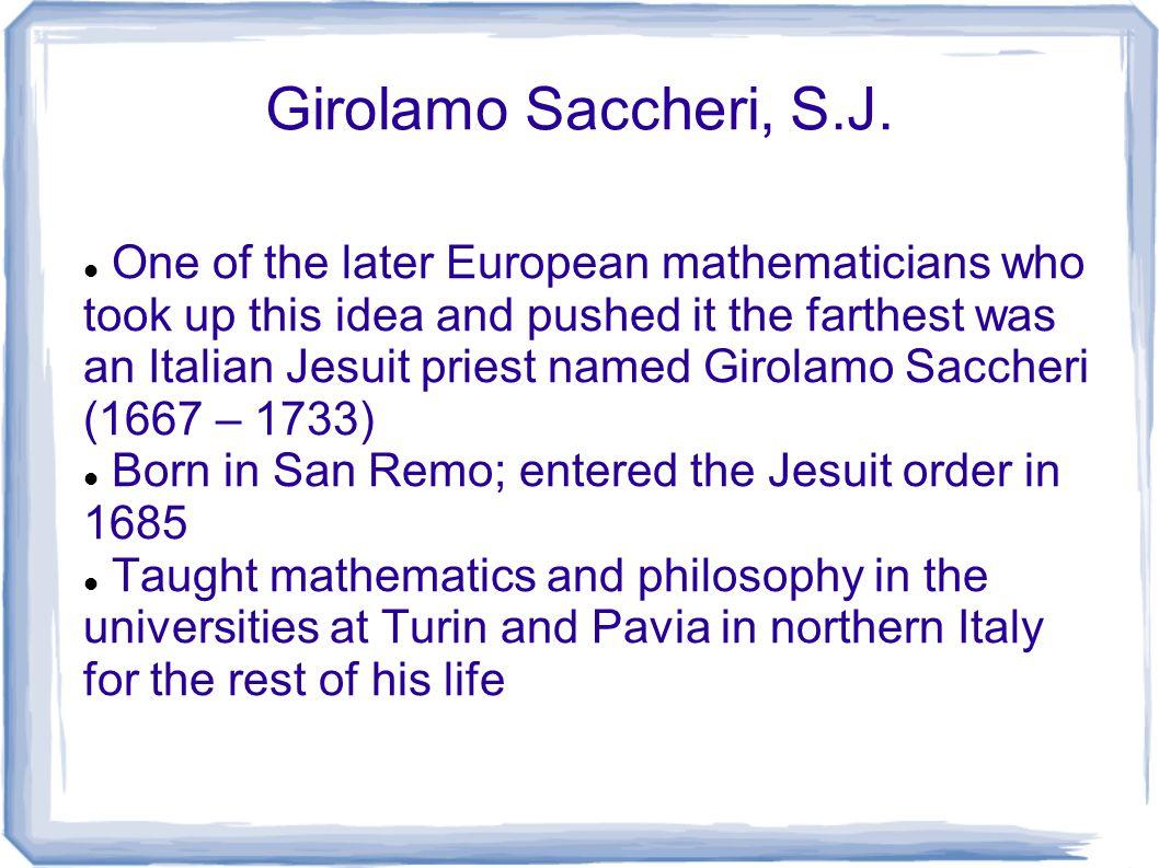 Girolamo Saccheri, S.J.
