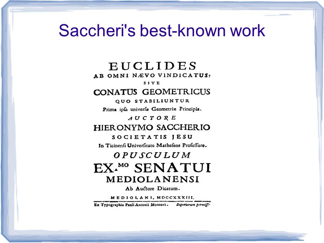 Saccheri s best-known work