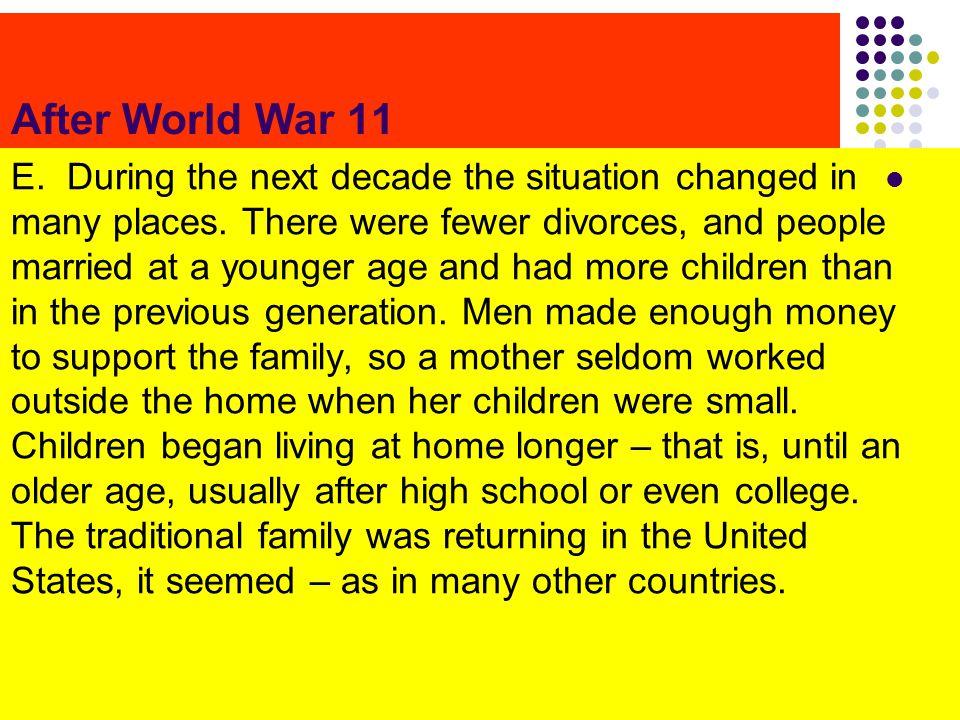 After World War 11