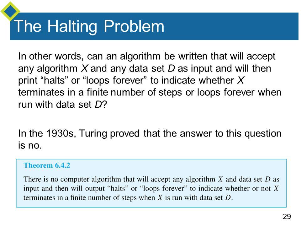 The Halting Problem