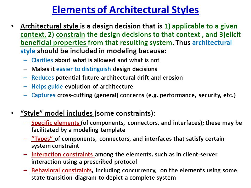 Elements of Architectural Styles