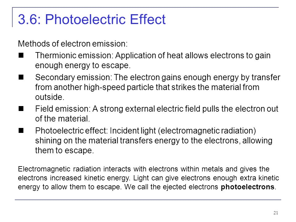 3.6: Photoelectric Effect