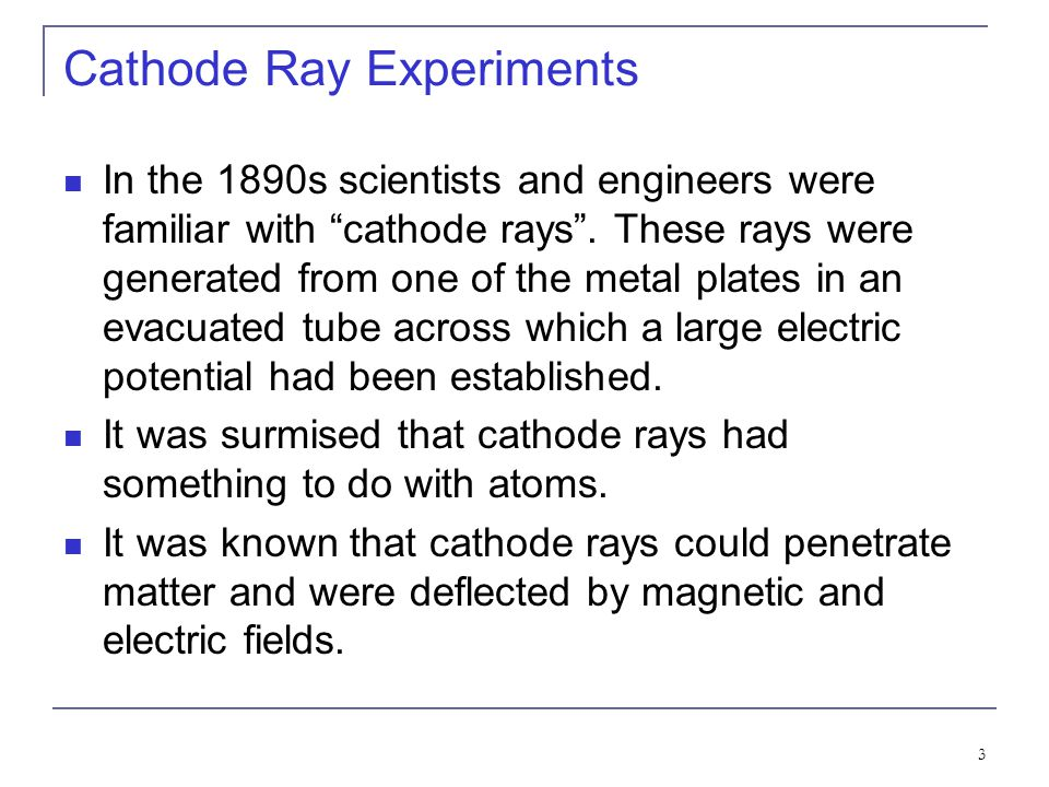 Cathode Ray Experiments