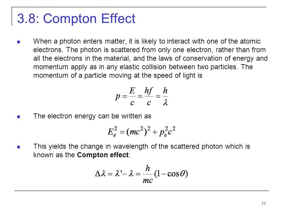 3.8: Compton Effect