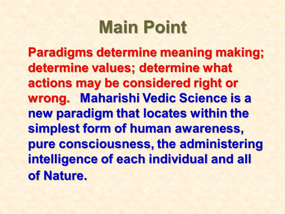 Main Point