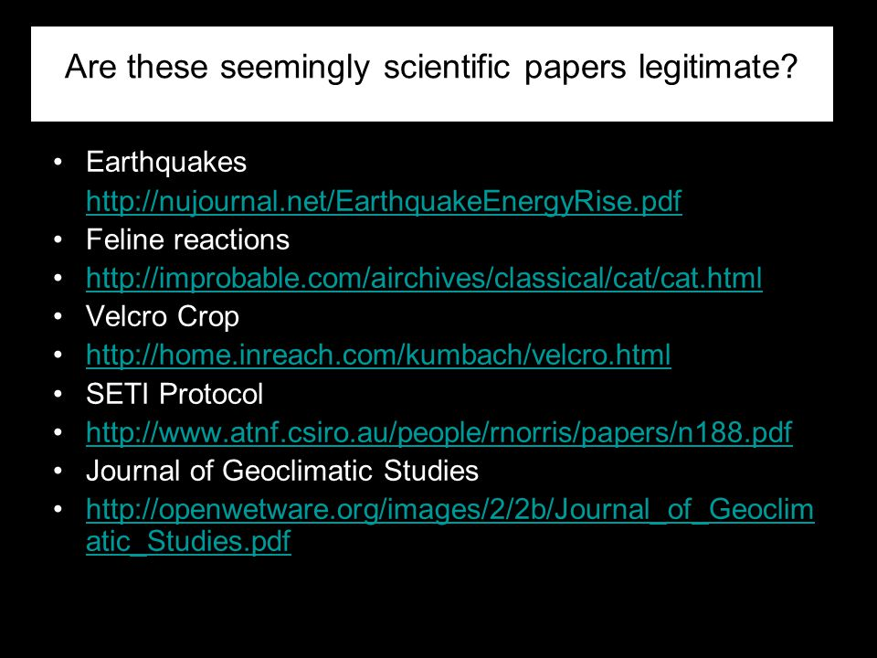Are these seemingly scientific papers legitimate
