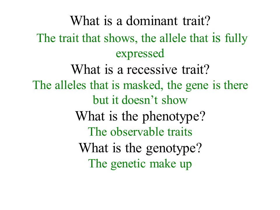 What is a dominant trait