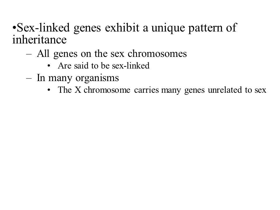 Sex-linked genes exhibit a unique pattern of inheritance