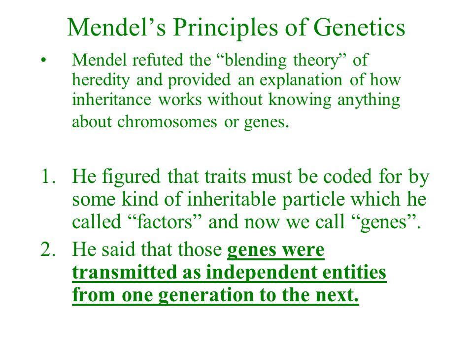 Mendel's Principles of Genetics