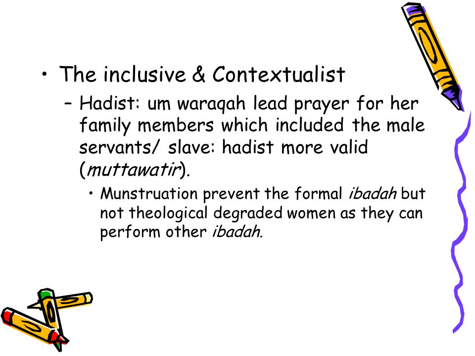 The inclusive & Contextualist