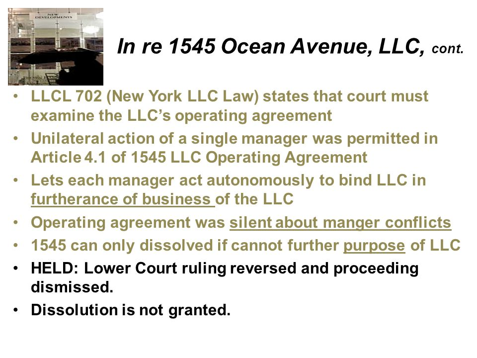 In re 1545 Ocean Avenue, LLC, cont.