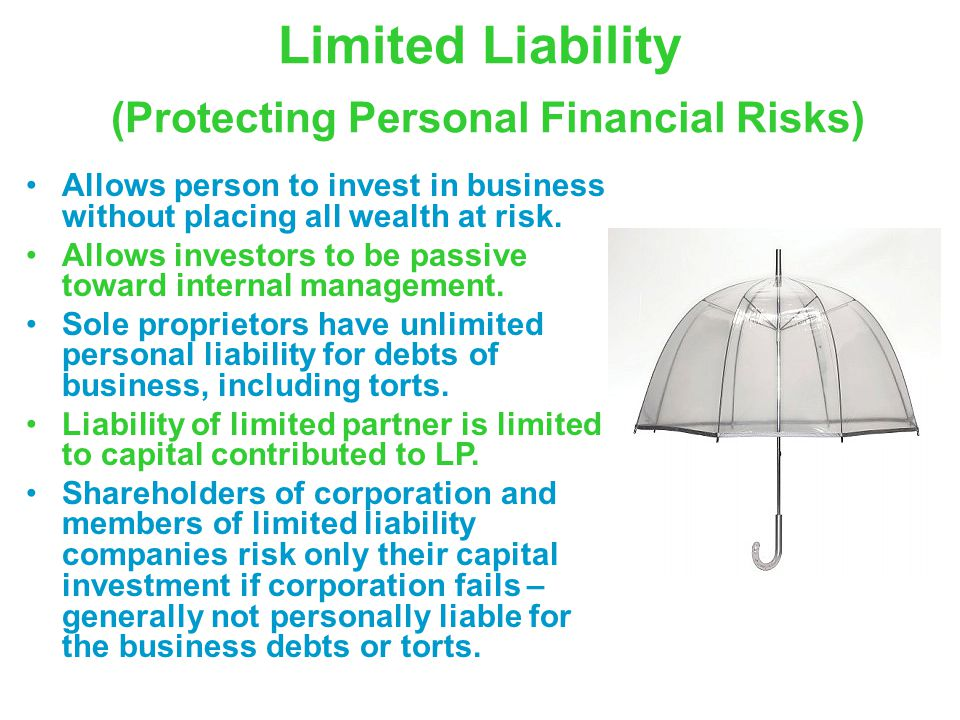 Limited Liability (Protecting Personal Financial Risks)