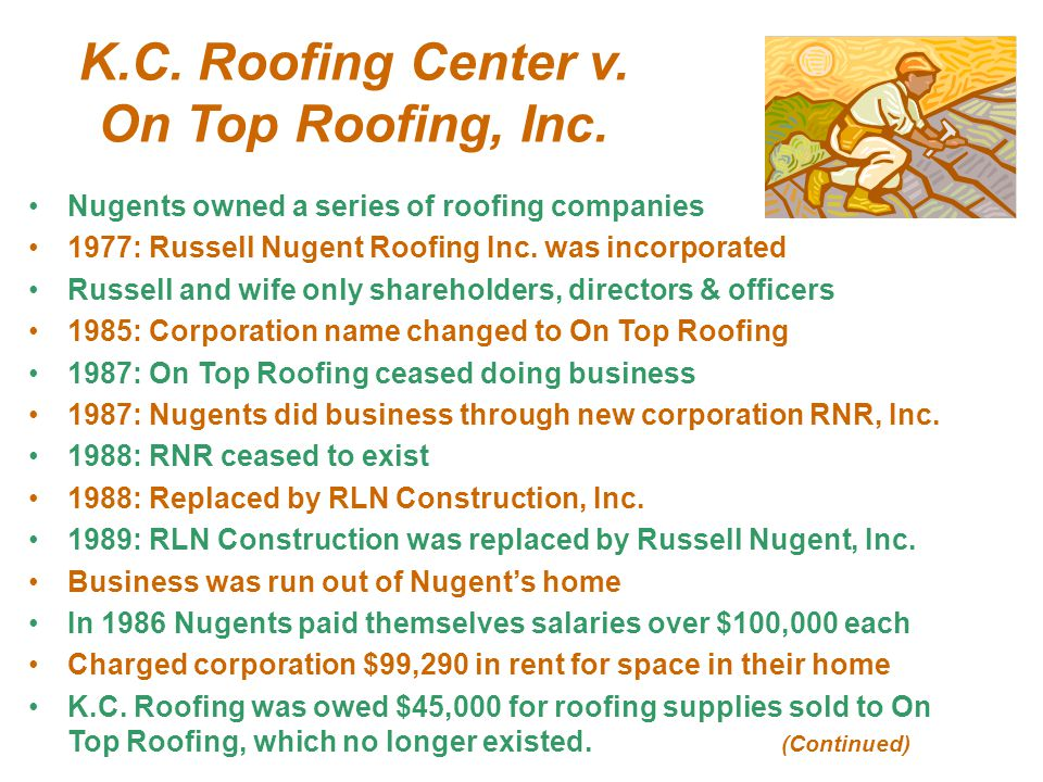 K.C. Roofing Center v. On Top Roofing, Inc.