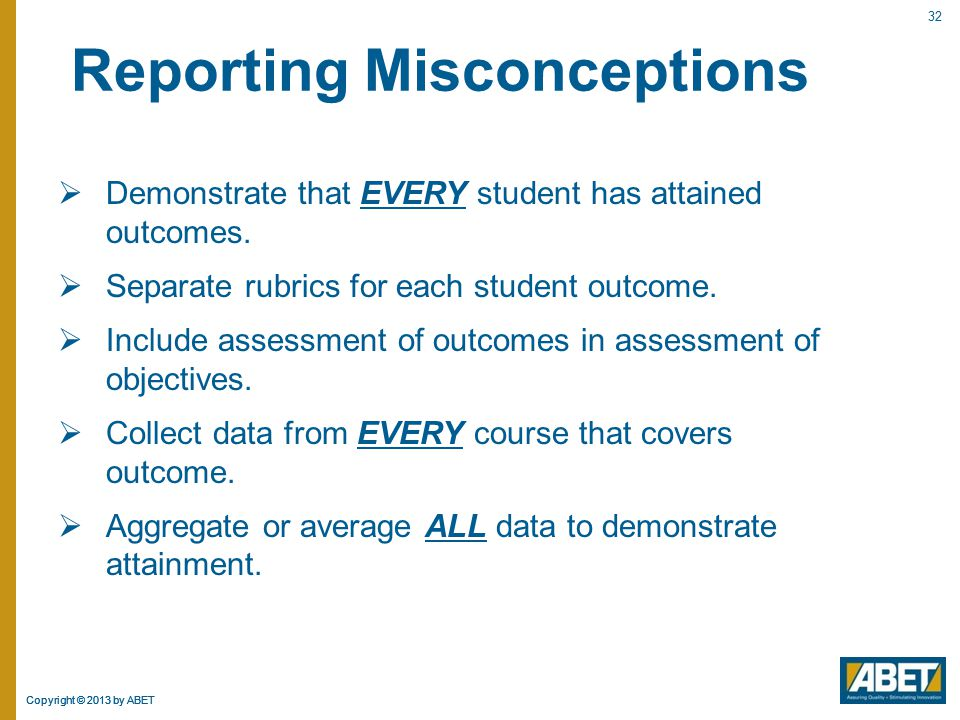 Reporting Misconceptions