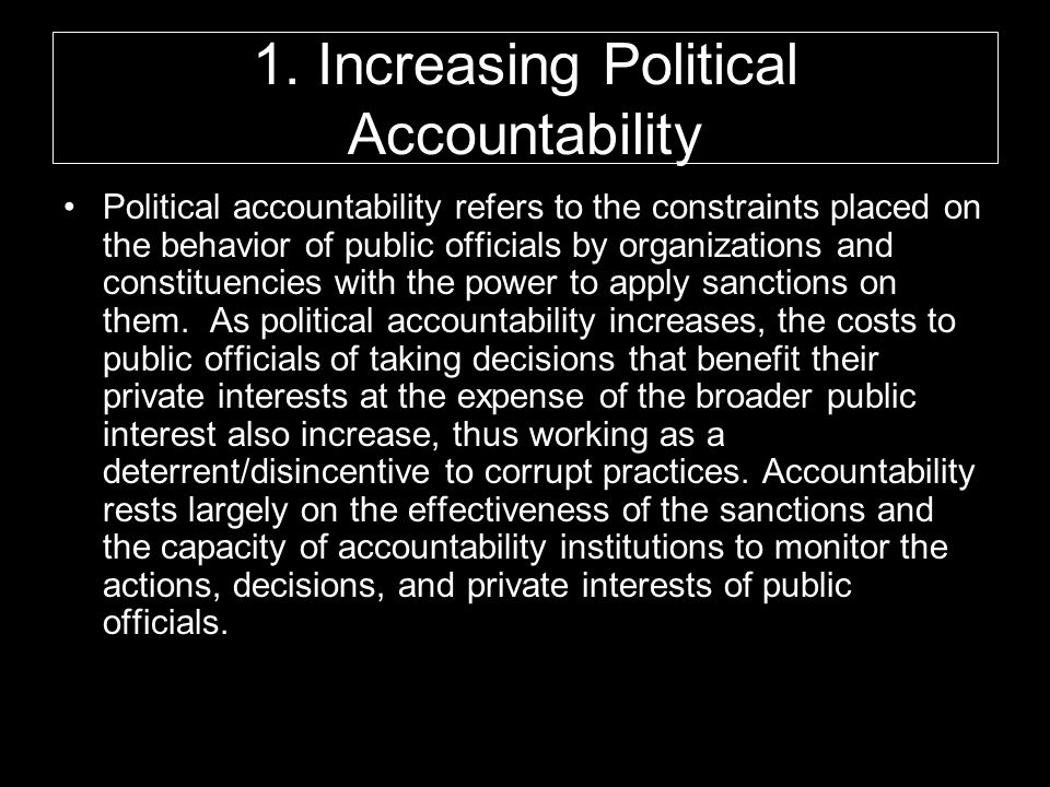 1. Increasing Political Accountability