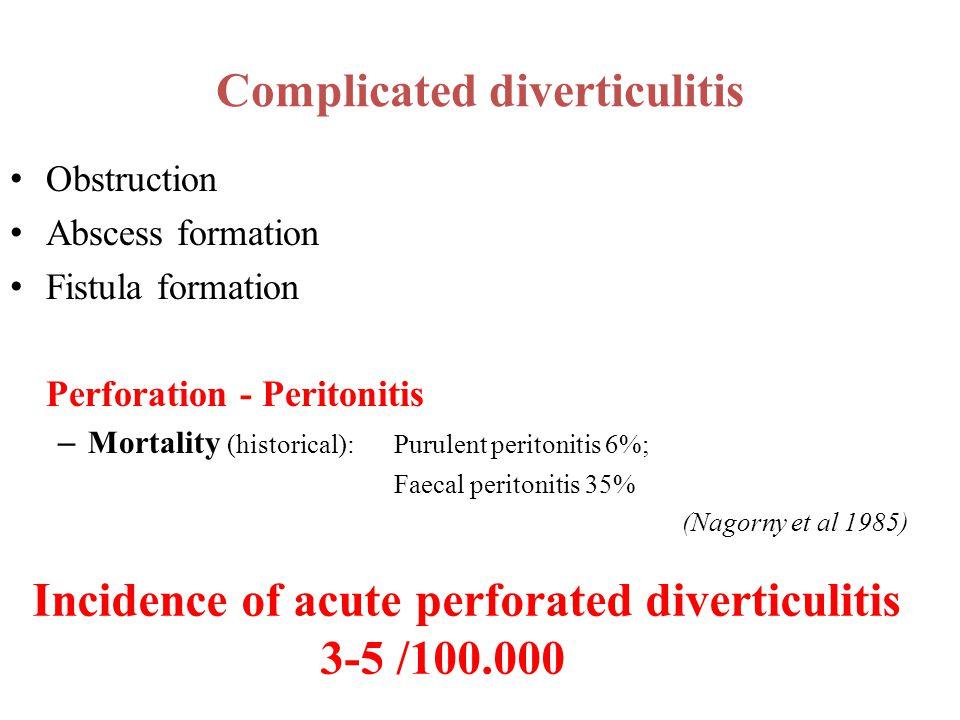 Complicated diverticulitis