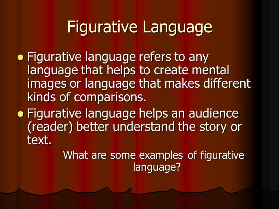 What are some examples of figurative language