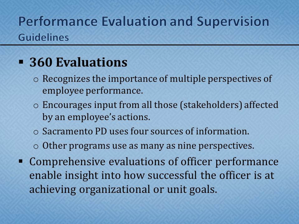 the importance of performance evaluation Periodic performance evaluation is an important feature of employee's performance management system for every organization generally an employee and the manager are involved in the performance evaluation of performance.