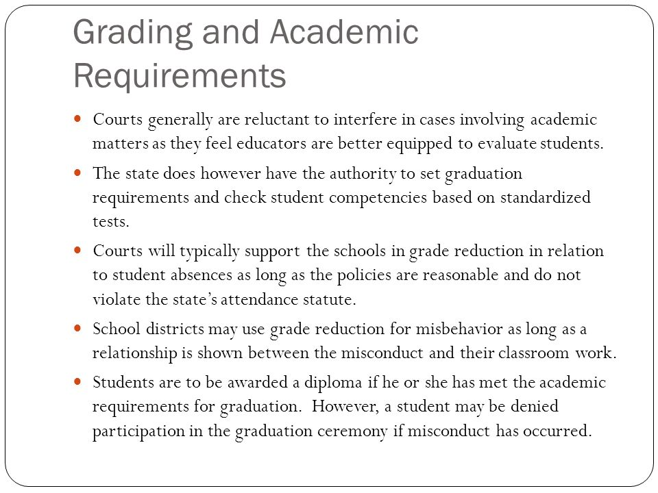 Grading and Academic Requirements