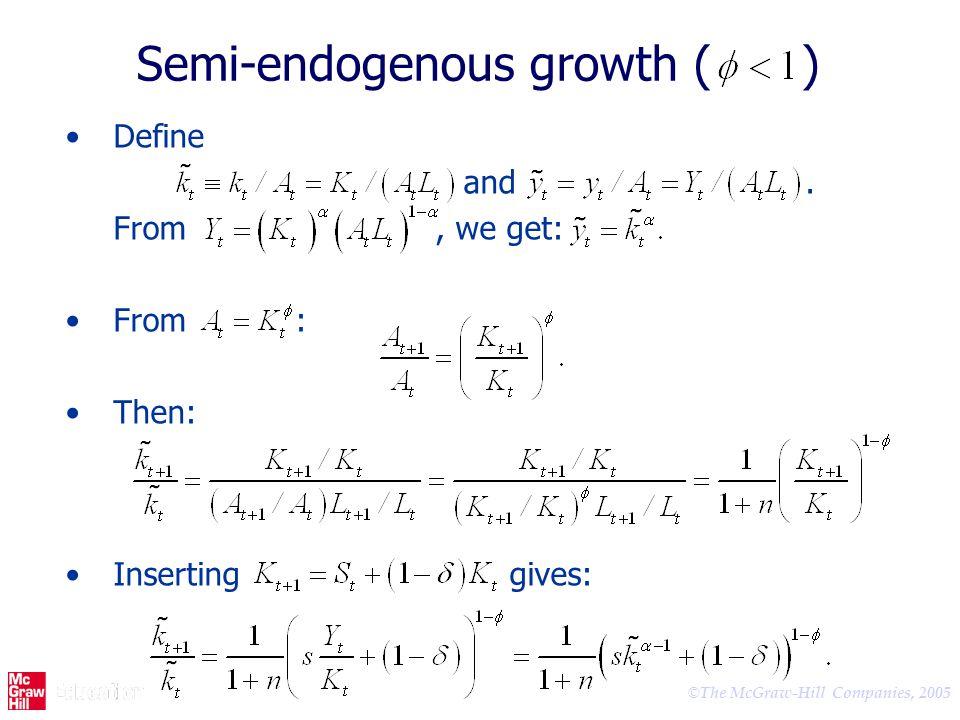 Semi-endogenous growth ( )