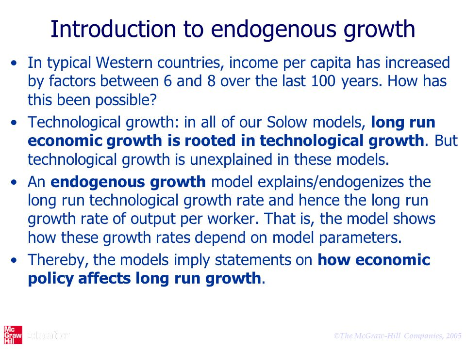 Introduction to endogenous growth