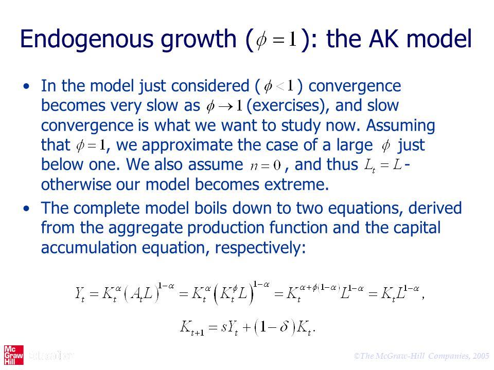 Endogenous growth ( ): the AK model