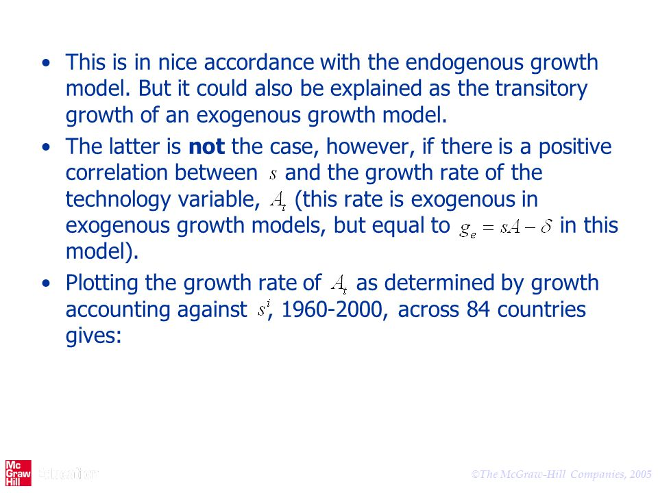 This is in nice accordance with the endogenous growth model