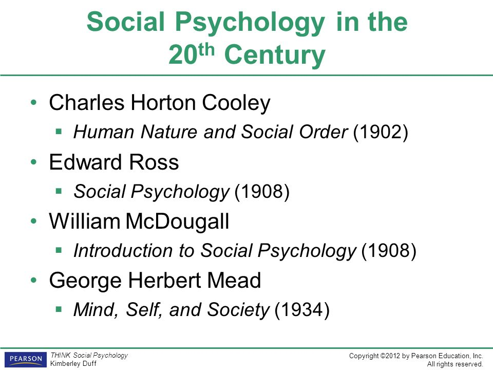 Social Psychology in the 20th Century