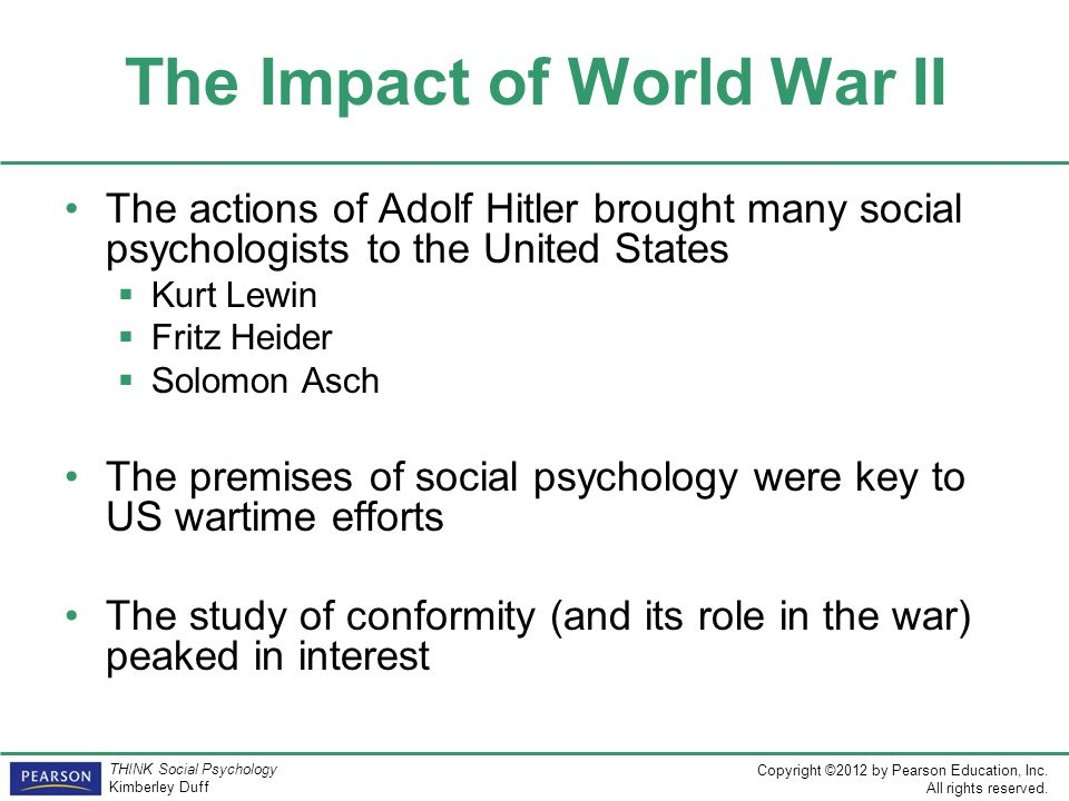 The Impact of World War II