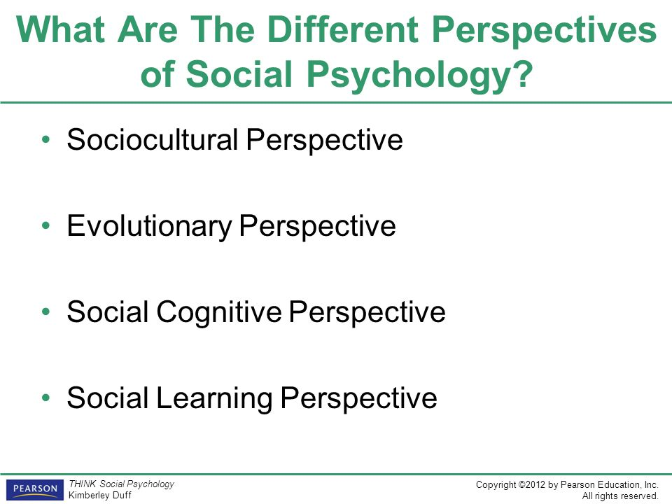 What Are The Different Perspectives of Social Psychology