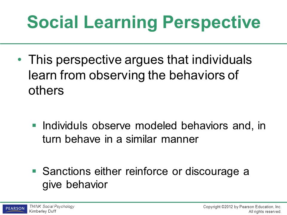 Social Learning Perspective