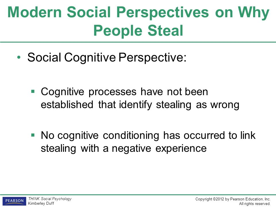 Modern Social Perspectives on Why People Steal