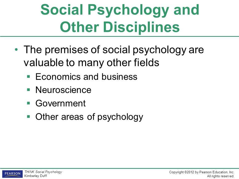 Social Psychology and Other Disciplines
