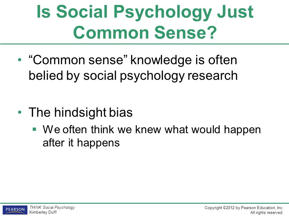 Is Social Psychology Just Common Sense