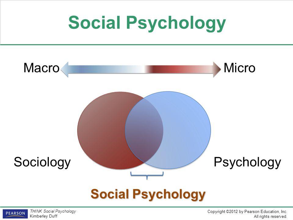 Social Psychology Macro Micro Sociology Psychology Social Psychology
